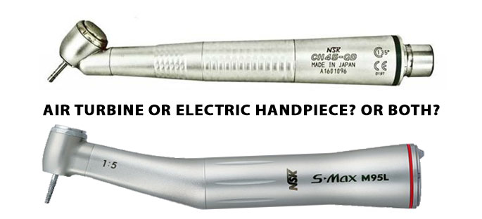 Airotor and electric handpieces