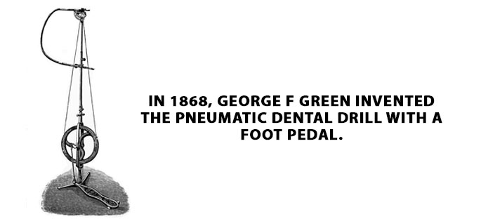 the first foot operated dental drill