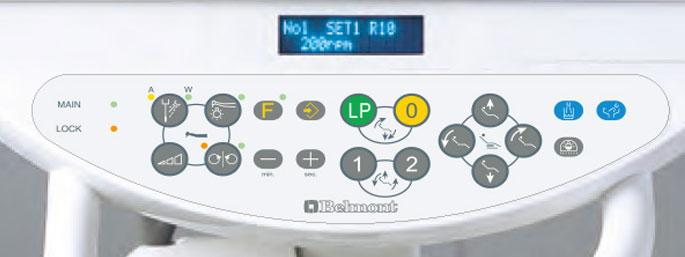 Dental chair control panel