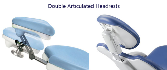 double articulated headrests
