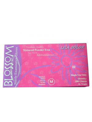 Blossom Pink Nitrile Powder Free Gloves