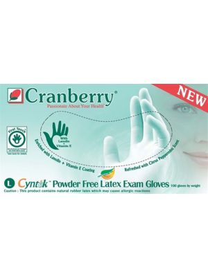 Cranberry Cyntek Powder Free Latex Exam Gloves