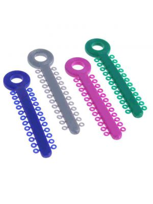 D-Tech Elastomeric Ligature Ties and Rings - Multicolor