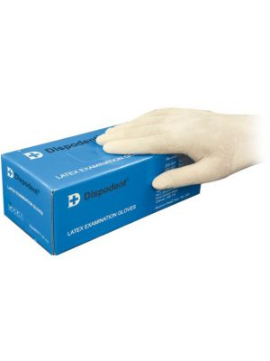 Dispodent Latex Exam Powder-free Gloves