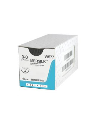 Ethicon Mersilk #3-0 Black Braided Suture
