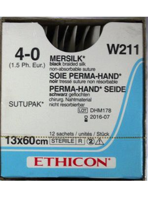 Ethicon Mersilk #4-0 Black Braided Suture
