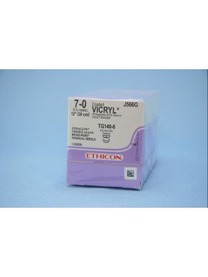 Ethicon Vicryl #7-0 Absorbable Violet Braided Suture