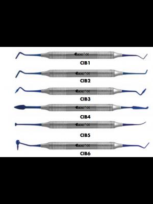 GDC Composite Instrument Blue Titanium - 6 Set of 6 in Pouch CIBS6 (CIBS6)