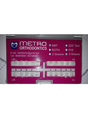 Metro Ceramic Bracket 3 Groove Base