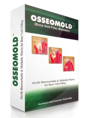 Advanced Biotech Osseomold DMBM with Calcium Sulphate Hemihydrate - 2x0.25g