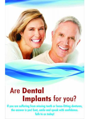 Are Dental Implants for You - Dental Poster