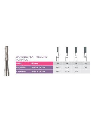 Prima Dental Classic Carbide Flat Fissure Plain Cut Burs
