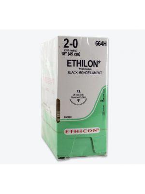 Ethicon Ethilon #2 Black Monofilament 70 cm Suture #90 mm (NW3398)