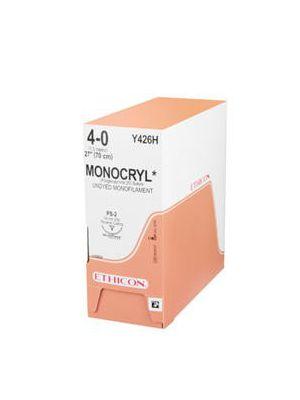 Ethicon Monocryl #6-0 Undyed Monofilament Suture - 45cm #13mm (Y833G)