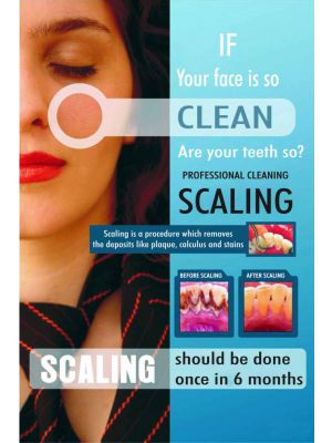 If your face is so Clean. Are your teeth so - Dental Poster