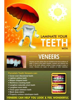 Laminate your Teeth with Veneer - Dental Poster