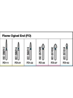 Oro FG Diamond Burs Flame Ogival End (FO) Series