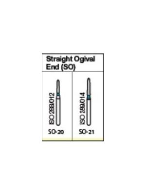 Oro FG Diamond Burs Straight Ogival End (SO) Series