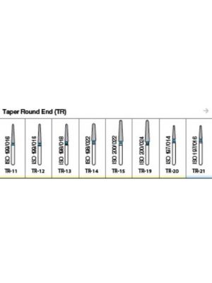 Oro FG Diamond Burs Taper Round End (TR) Series