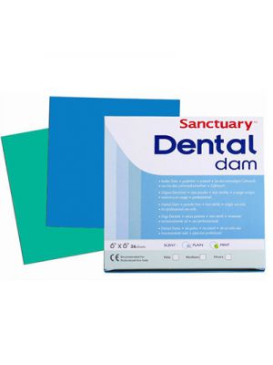 Sanctuary Dental Dam Sheets 6x6 - 36 sheets