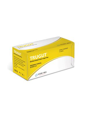 Sutures India Trugut Absorbable Surgical Sutures Without Needle