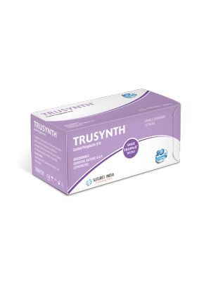 Sutures India Trusynth #2 Suture 1/2 Circle RC 40mm OS8 Needle Heavy #90cm (TS 2478)