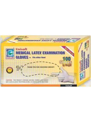 Unisoft Powdered Latex Examination Gloves