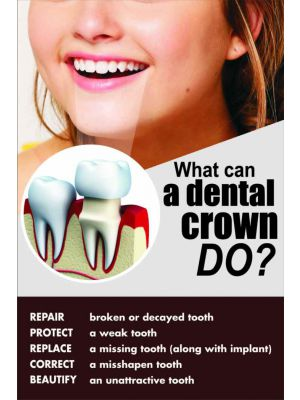 What can a Dental Crown do - Dental Poster