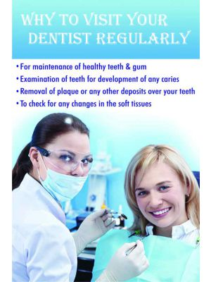 When to Visit a Dentist Regularly - Dental Poster