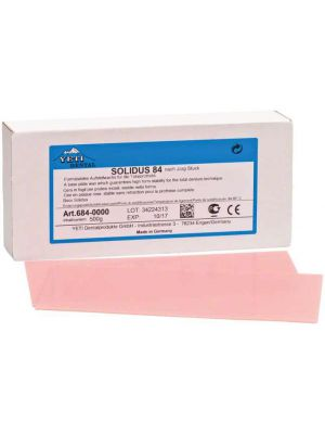 Yeti Solidus 84 Modelling Wax Sheets- Pink Hard (684-0000)